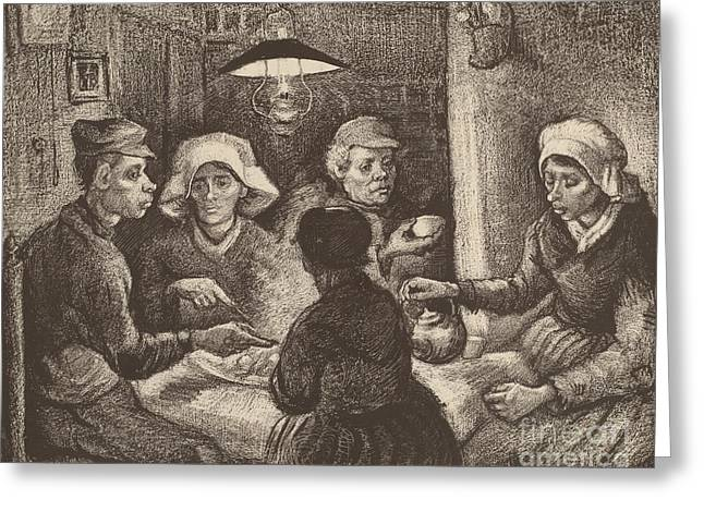 Potato Eaters, 1885 Greeting Card