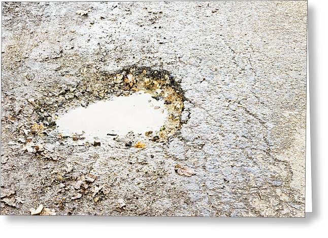Pothole Greeting Card