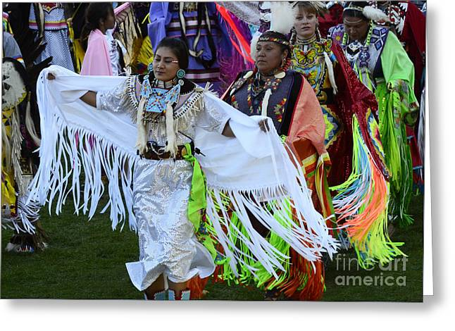 Pow Wow Beauty Of The Past 12 Greeting Card by Bob Christopher