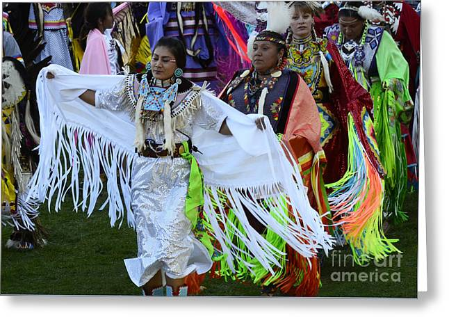 Pow Wow Beauty Of The Past 13 Greeting Card