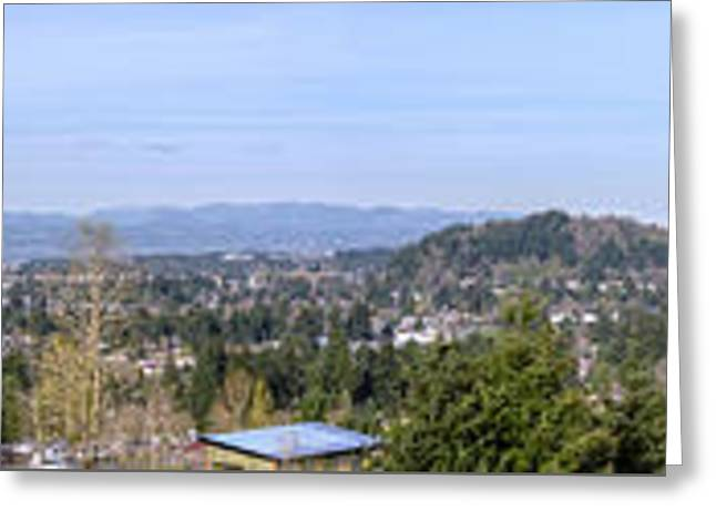 Powell Butte Park Panorama In Portland Oregon. Greeting Card by Gino Rigucci