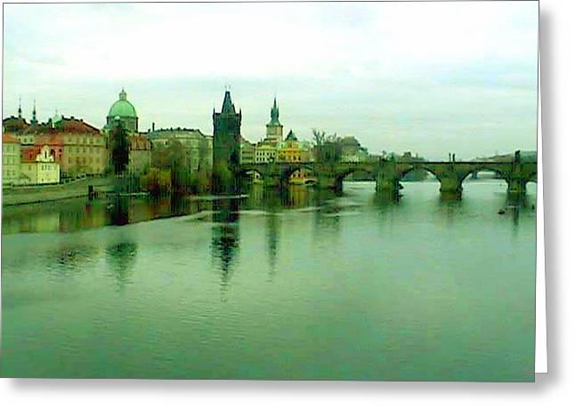 Prague  1 Jgibney 2000 City Bridge 2010 Greeting Card by jGibney