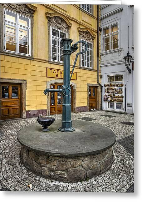 Prague Greeting Card by Nichola Denny