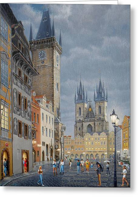 Prague.old Town Square Greeting Card