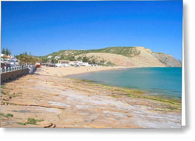 Praia Da Luz Greeting Card by Carl Whitfield