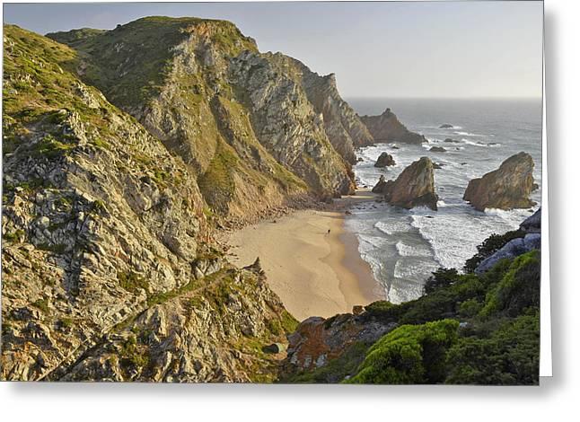 Greeting Card featuring the photograph Praia Da Ursa Portugal  by Marek Stepan