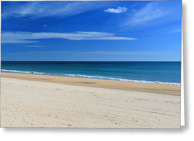 Praia Do Cabeco - Panoramic Greeting Card by Carl Whitfield