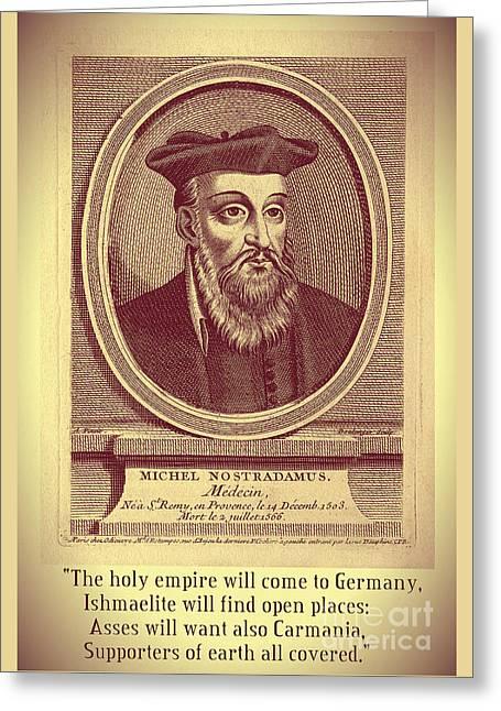 Predictions Of Nostradamus 3 Greeting Card