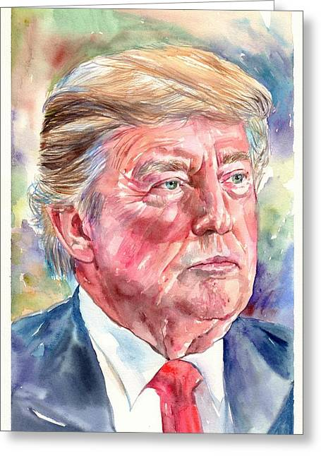 President Donald Trump Portrait Greeting Card