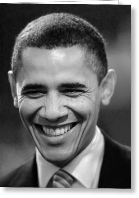 President Obama Greeting Card by Rafa Rivas