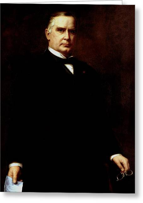 President William Mckinley  Greeting Card by War Is Hell Store