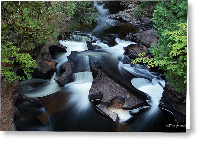 Presque Isle River Falls Greeting Card