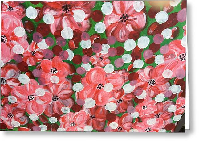 Pretty In Pink Greeting Card by Sue Dowdall
