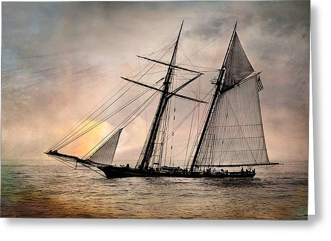 Pride Of Baltimore II Greeting Card by Fred LeBlanc