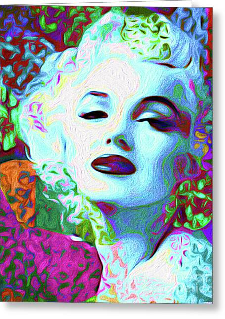 Primatic Marilyn Monroe Greeting Card by Chris Andruskiewicz