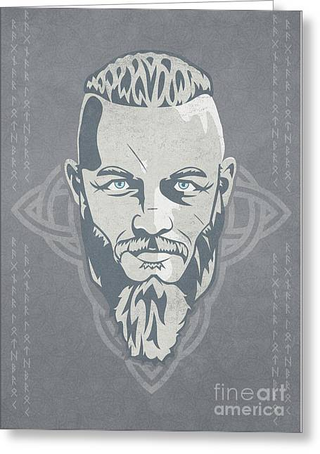 Ragnar Lothbrok Vikings Greeting Card by Sinisa Kale
