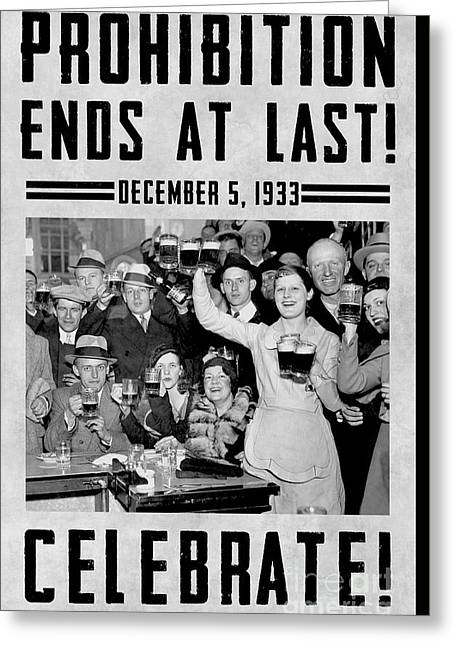 Prohibition Ends Celebrate Greeting Card