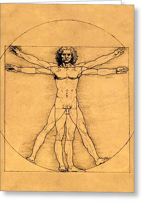 Proportions Of The Human Figure Greeting Card