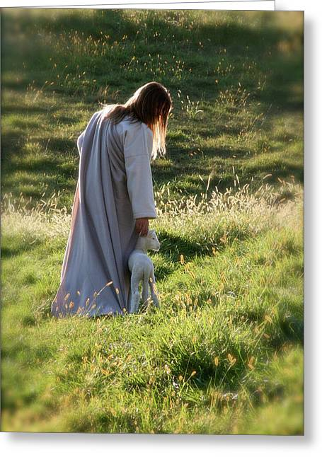 Psalm 23 Greeting Card by Vienne Rea