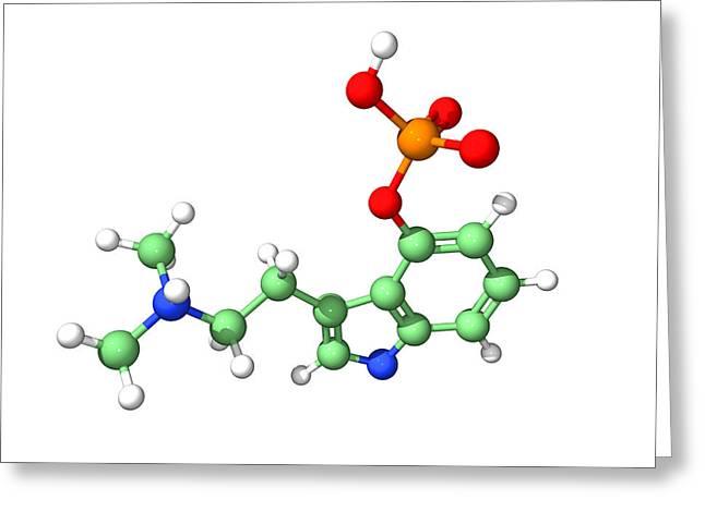 Psilocybin Hallucinogen Molecule Greeting Card