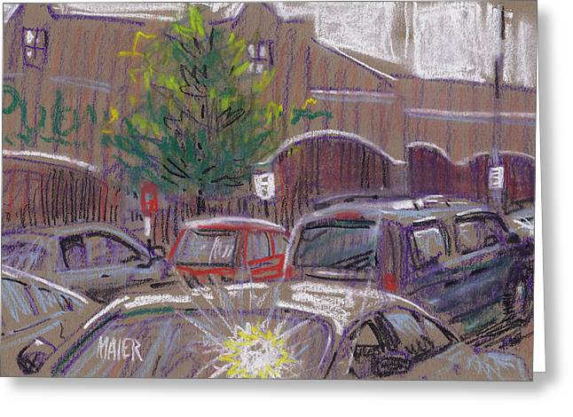 Plein Air Pastels Greeting Cards - Publix Parking Greeting Card by Donald Maier