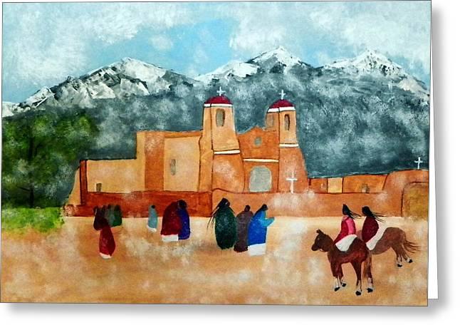 Pueblo Church Greeting Card