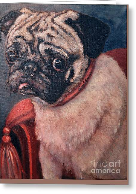 Pugsy Greeting Card