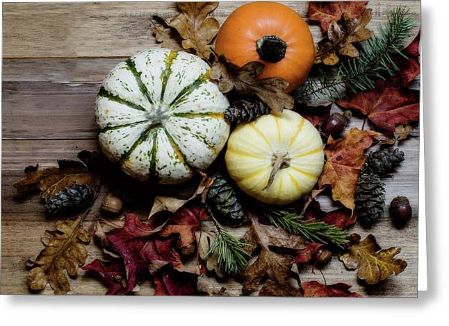 Greeting Card featuring the photograph Pumpkins by Rebecca Cozart