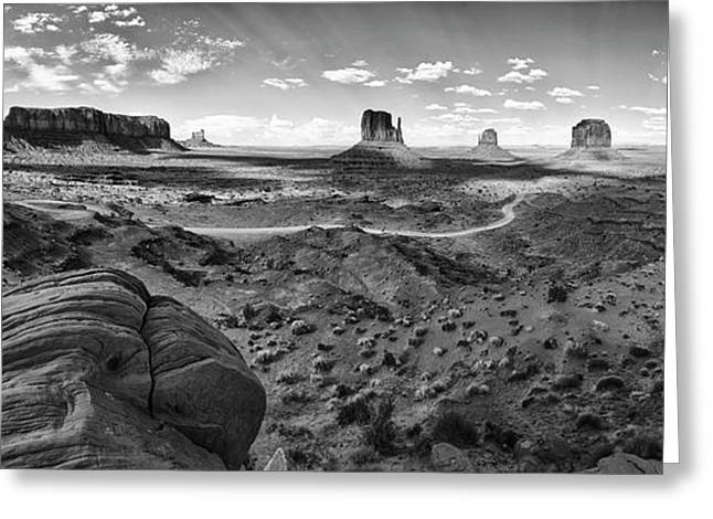 Pure Monument Valley Greeting Card by Andreas Freund