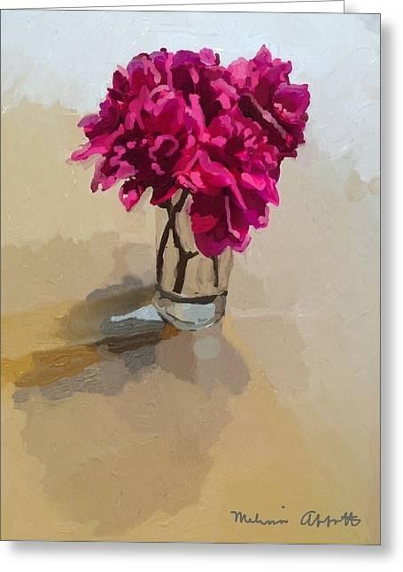 Purple Dahlias Greeting Card
