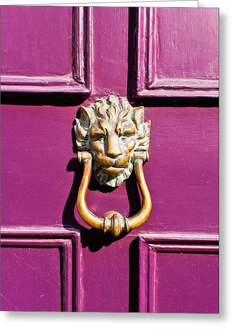 Purple Door Greeting Card by Tom Gowanlock