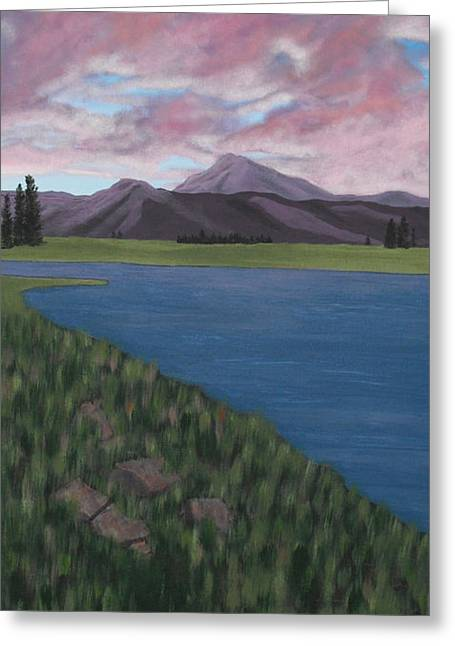 Purple Mountains Greeting Card by Candace Shockley