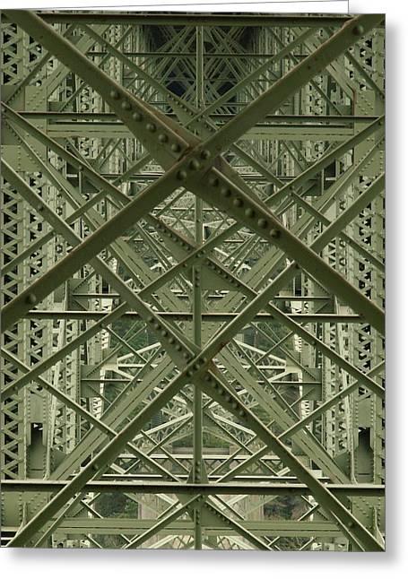 Puzzled Bridge Greeting Card