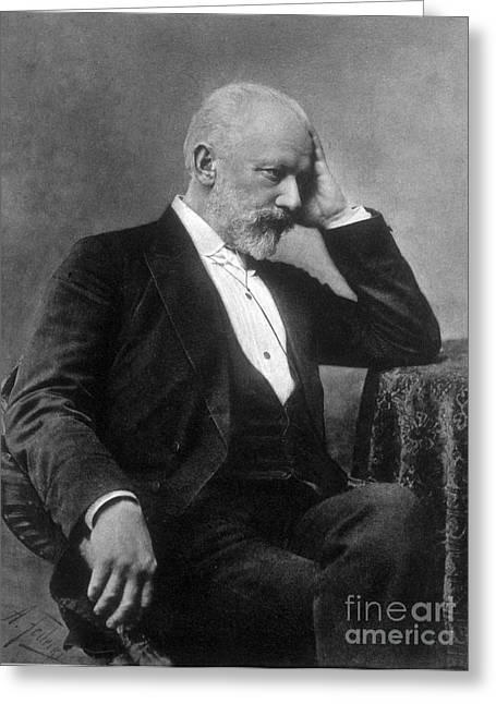 Pyotr Ilyich Tchaikovsky, Russian Greeting Card by Science Source