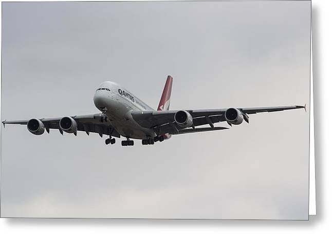 Qantas Airbus A380 Greeting Card