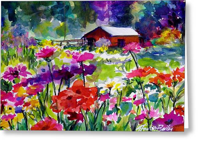 Quaint Taylorsville Afternoon Greeting Card by Therese Fowler-Bailey