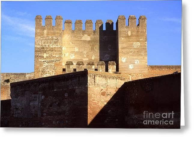 Quebrada Tower The Alcazaba The Alhambra Greeting Card