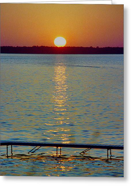 Quite Pier Sunset Greeting Card