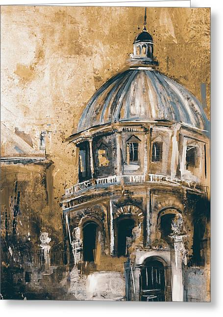 Radcliffe Camera, Oxford City 195 3 Greeting Card by Mawra Tahreem