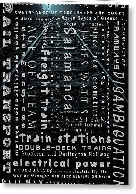 Railway  Track  Greeting Card