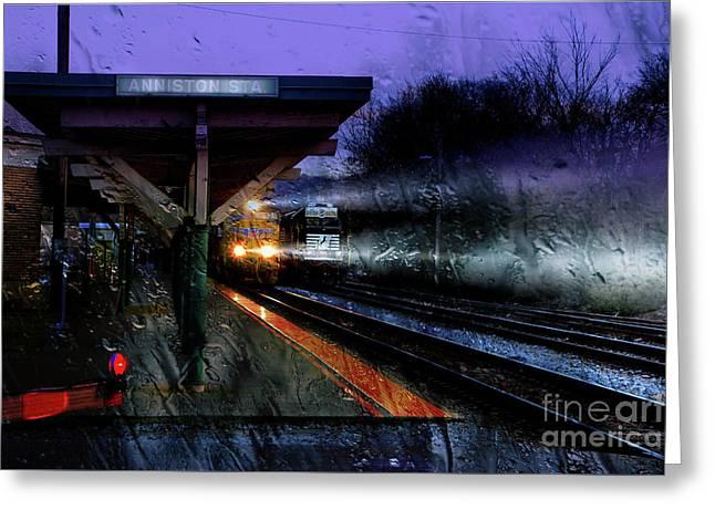 Rain And Rail Greeting Card