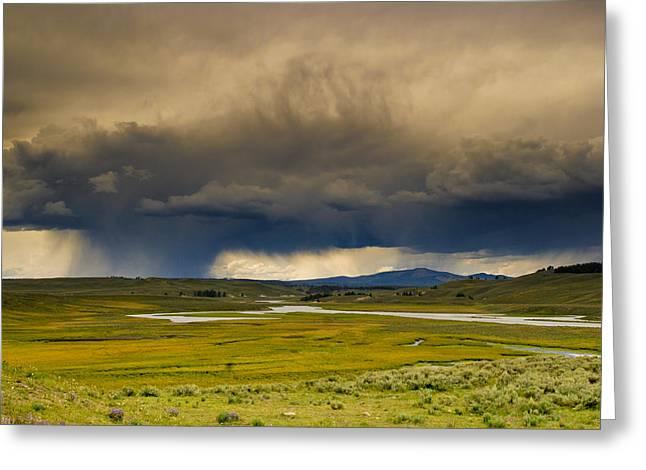 Rain Sky Greeting Card by Patrick  Flynn
