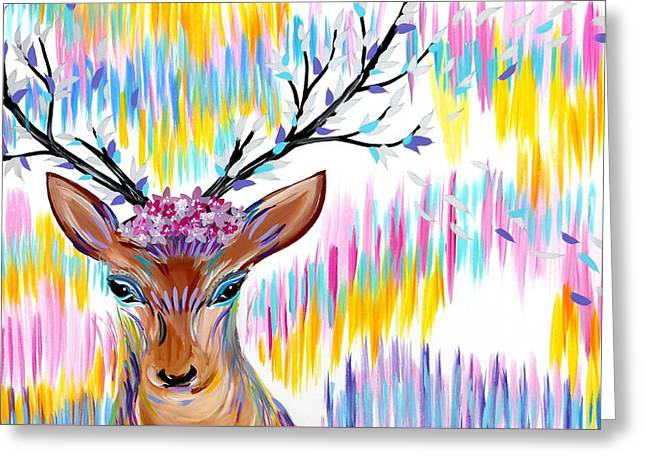 Rainbow Greeting Card by Cathy Jacobs