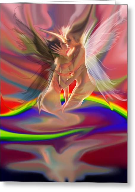 Rainbow Fairies Greeting Card