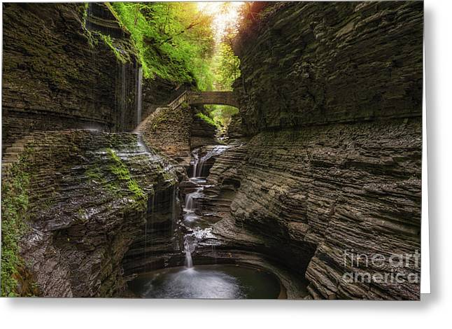 Rainbow Falls  Greeting Card by Michael Ver Sprill