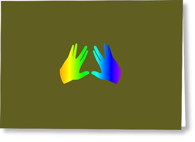 Rainbow Judaism Symbol Greeting Card by Frederick Holiday