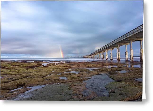 Rainbow On The Horizon Greeting Card
