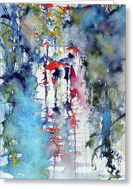 Raining Greeting Card by Kovacs Anna Brigitta