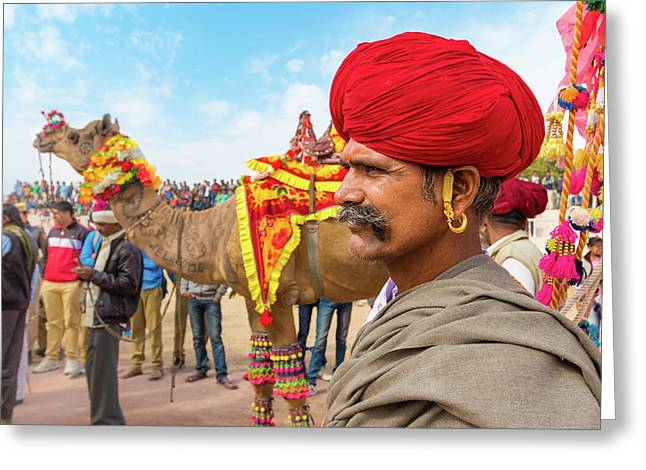 Rajasthani Man Greeting Card by Nila Newsom