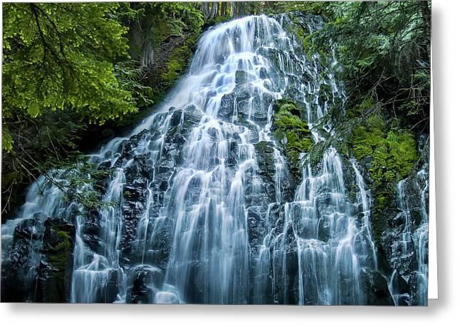 Ramona Falls Cascade Greeting Card